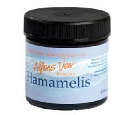 Hamamelis: Zware vermoeide benen. Spataders. Alle gesprongen aders en vaatproblemen. Aambeien. Alle soorten kloven. Zachte dagcrème.